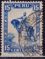 Peru 1934, Pizarro, 15c, Sc#320, Used - Peru