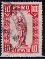 Peru 1934, Statue Of Liberty, 10c, Sc#318, Used - Peru