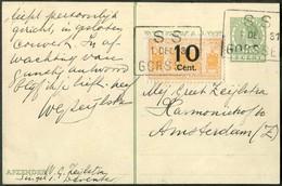 RAILWAY MAIL 1931 Netherlands 10 Cent NEDERLANDSCHE SPOORWEGEN Parcel Stamp On Stationery Card Steam Locomotive Bahnpost - Trains