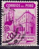 Peru, 1938, Industrial Bank Of Peru, 20c, Sc#379 Used - Peru