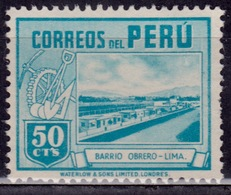 Peru, 1938, Worker's Houses, 50c, Sc#380 Used - Peru