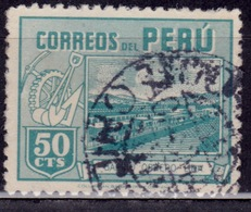 Peru, 1945-47, Worker's Houses, 50c, Sc#414 Used - Peru