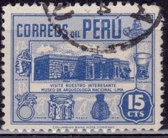 Peru, 1945-47, Archaeological Museum, 15c, Sc#412, Used - Peru