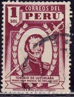 Peru, 1938, Toribio De Luzuriaga, 1s, Sc#381, Used - Peru