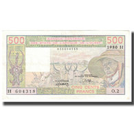 Billet, West African States, 500 Francs, 1980, KM:105Ab, TTB - West African States