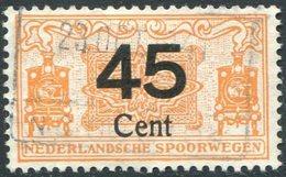 RAILWAY Netherlands 1934 45 C. NEDERLANDSCHE SPOORWEGEN Parcel Steam Locomotive Eisenbahn Paketmarke Chemin De Fer Colis - Trenes