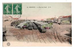 (42) 157, Roanne, JG Colorisée 65, Le Port Du Canal, Péniche Batellerie, Train - Roanne