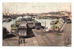 (42) 163, Roanne, Tournaire-Besacier Colorisée, Port Du Canal, Péniche Batellerie, Train - Roanne