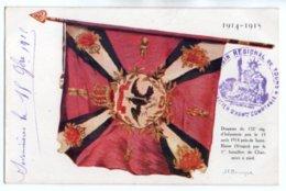 (Guerre 1914-18) 206, Burnand Edit, Illustration De JF Bouchor, Drapeau Du 132e Régiment D'Infanterie - Guerre 1914-18