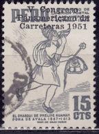 Peru, 1951, Post Boy, Overprint, 15c, Sc#449, Used - Peru