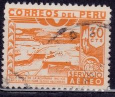 Peru, 1945, Ica River Dam, 30c, Sc#C74, Used - Peru