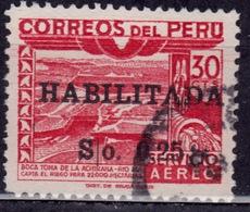 Peru, 1951, Ica River Dam, 25c On 30c Surcharge, Sc#C106, Used - Peru