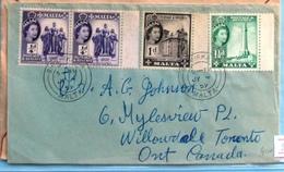 Malta QE II Cover 1959 - Malte (...-1964)