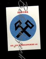 K5-29 CZECHOSLOVAKIA 1968 Karvina Festival City - XIX. Filmovy Festival Pracujicich - Workers Film Festival WFF - Boites D'allumettes - Etiquettes