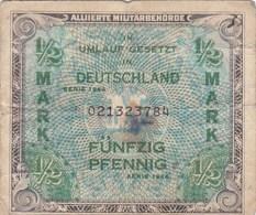 Allemagne - Billet De 1/2 Mark - Occupation Alliés - Alliierte Militärbehörde - Série 1944 - [ 5] 1945-1949 : Occupation Des Alliés
