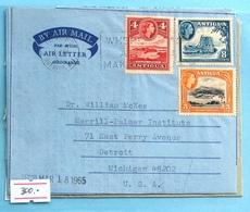 Antigua QE II Aerogramma 1965 - 1960-1981 Ministerial Government