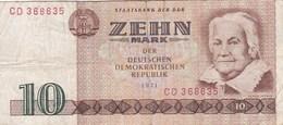 Allemagne - Billet De 10 Mark - RDA - Clara Zetrin - 1971 - [ 6] 1949-1990 : RDA - Rep. Dem. Alemana