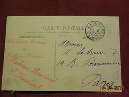 Carte De 1906 à Destination De Paris (cachet Intéressant) - 1877-1920: Période Semi Moderne