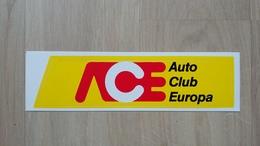 Aufkleber Mit Werbung Für Den Auto Club Europa (ACE) - Autocollants