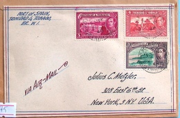 Trinidad & Tobago  Air Mail Cover 1947 - Trinidad & Tobago (...-1961)