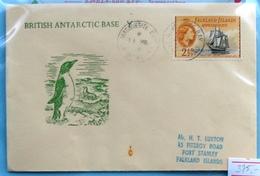 Falkland  QE II Cover British Antarctic Base - Falklandinseln