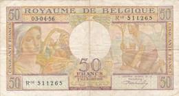 Belgique - Billet De 50 Francs - Agriculture - 3 Avril 1956 - [ 2] 1831-... : Royaume De Belgique