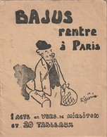 Rare Petit Livret Dessin De Raoul Guérin Bajus Rentre à Paris Tract Propagande Vichy Anti Anglais 14 Pages - 1939-45