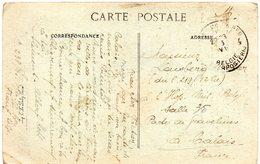CV Expédiée Du Front Belge Vers Hôpital Militaire Belge De Calais - Oblitération P.M.B. 4 - Guerra '14-'18