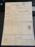 2.2) PUGLIA TERRA DI BARI ALTAMURA MANDATO DI PAGAMENTO 1923 CURIOSITA' - Italia