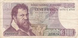 Belgique - Billet De 100 Francs - Lambert Lombard - 6 Mai 1974 - 100 Francos