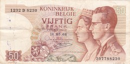 Belgique - Billet De 50 Francs - Baudoin Ier & Fabiola - 16 Mai 1966 - [ 2] 1831-... : Royaume De Belgique