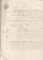 Rare Document Procès Verbal De 1869 Avec Tampon  Filigrane Aigle Second Empire Et Notaire D'empire à Bains - Verzamelingen
