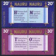 Nauru 236-239a Pairs,MNH.Michel 233-236. Christmas 1981:Bible. - Christmas