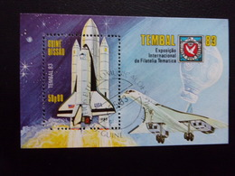 Espace Navette Concorde Bloc Guiné Bissau Tembal 83 Space Avion Fusée - Afrika