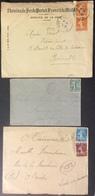 D449 Ambulants Lyon à Nantes «Chemins De Fer De Paris ..»Sables D'O à Tours Legé à Nantes Semeus 1905 1928 1929 Lettres - Postmark Collection (Covers)