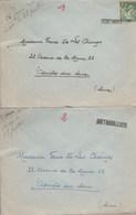 GRIFFE LINEAIRE MONTMORILLON SUR 2 LETTRES 1929+1940 POUR ASNIERES SUR SEINE - Marcophilie (Lettres)