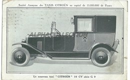 CARTE POSTALE CONSTAT D'ACCIDENT - TAXIS CITROEN - 10 CV Série G9. - Taxis & Fiacres
