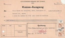 Rare Document Règlement Union Suisse Des Garagistes Avec Timbres Fiscaux 1959 - Svizzera