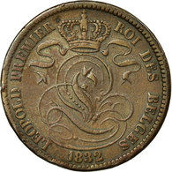 Monnaie, Belgique, Leopold I, 10 Centimes, 1832, TTB, Cuivre, KM:2.1 - 1831-1865: Léopold I