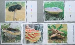 Malta 2009   Mushrooms  5 V. MNH - Mushrooms