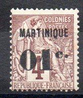 MARTINIQUE - YT N° 8 -  Neuf * - MH - Cote: 18,00 € - Martinique (1886-1947)