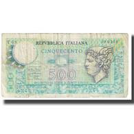 Billet, Italie, 500 Lire, KM:94, TB - [ 2] 1946-… : Repubblica