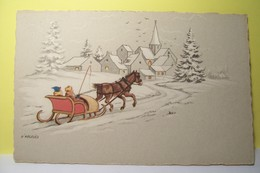 D'ARGELES   ( Illustrateur  ) - Paysage D'hiver - Illustratori & Fotografie