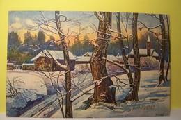 FRIGE   ( Illustrateur  ) - Paysage D'hiver - ARBRES - Other Illustrators