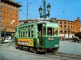 CPM Tram-Vies De Barcelona Cotxe 886 Serie 860-889 - Strassenbahnen