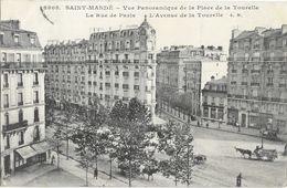 St Saint-Mandé - Vue Panoramique, L'Avenue, Place De La Tourelle, La Rue De Paris - Edition E. Malcuit - Carte N° 3808 - Saint Mande