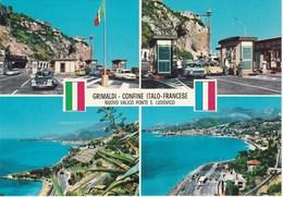 Douane. Poste Frontière Italie-France. Grimaldi- Confine Italo-Francese. Voitures: Panhard PL 17. Fiat 500 - Douane