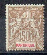MARTINIQUE - YT N° 49 -  Neuf * - MH - Cote: 50,00 € - Martinique (1886-1947)