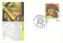 ITALIA - FDC MAXIMUM CARD 2002 - CIMABUE - ARTE - ANNULLO SPECIALE - Cartoline Maximum