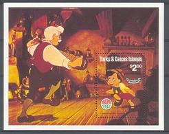 Msl912 WALT DISNEY MUZIEK PINOKKIO GEPETTO PINOCCHIO MUSIC TURKS & CAICOS ISLANDS 1980 PF/MNH - Disney